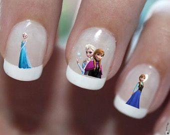 Disney movie frozen nail design