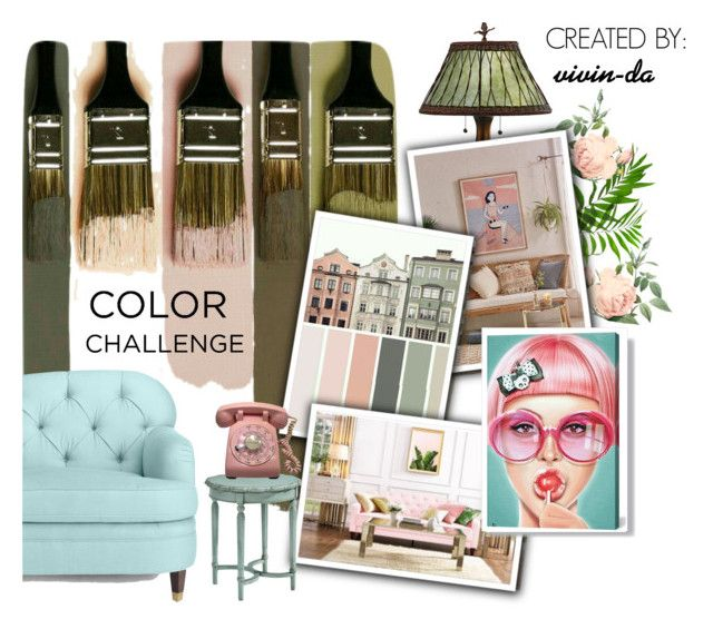 """""""Terrible Green or Tosca with Blush Pink 🙈"""" by vivin-da on Polyvore featuring interior, interiors, interior design, home, home decor, interior decorating, Quoizel, Urban Outfitters, iCanvas and Magnolia Home"""