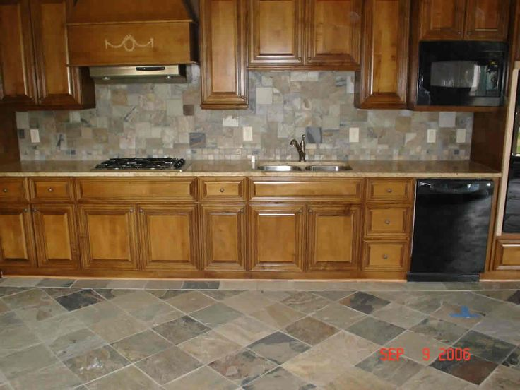 Slate Floors Plus Slate Backsplash Done By CarpetsPlus COLORTILE Of  Bloomington, IN.