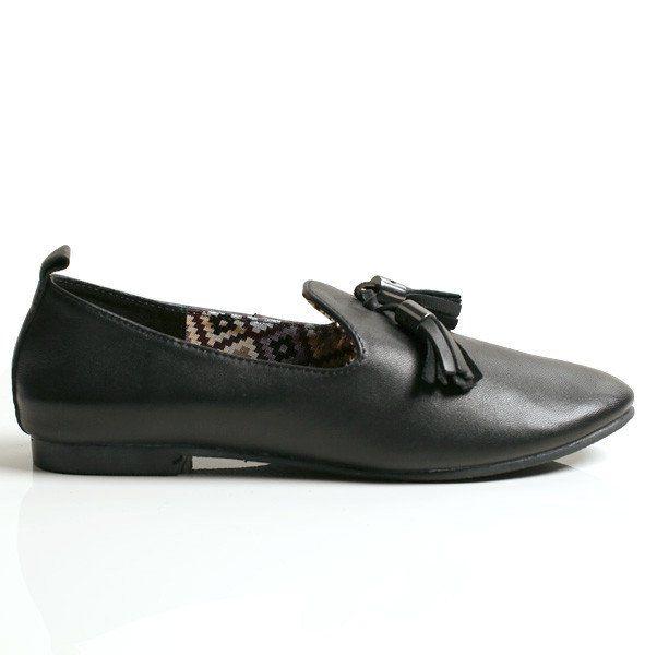 Radical Yes 'Dharma' Manstyle slipper - Black Tassle