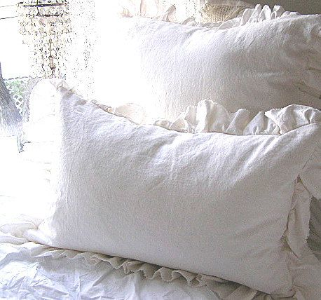 Made To Order White Linen Cotton Blend by CutePinkStuffANDMORE