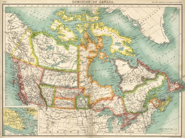This map shows what Canada looked like near end of the 19th century. | 15 Fascinating Maps That Will Change The Way You See Canada