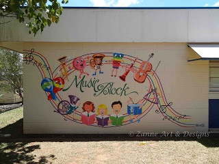 Zanne Art & Designs  mural painting of musical instruments
