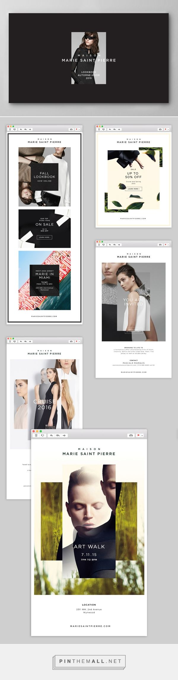 Maison Marie Saint Pierre - lookbook & Newsletters on Behance - created via http://pinthemall.net