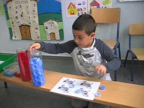 Sumas utilizando tapones en infantil 5 años (primer trimestre). Inicio método de cálculo ABN. CEIP Huerta Retiro
