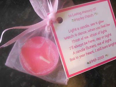 5 x Personalised scented candle favors - memorial funeral keepsake in Home, Furniture & DIY, Celebrations & Occasions, Memorials & Funerals | eBay