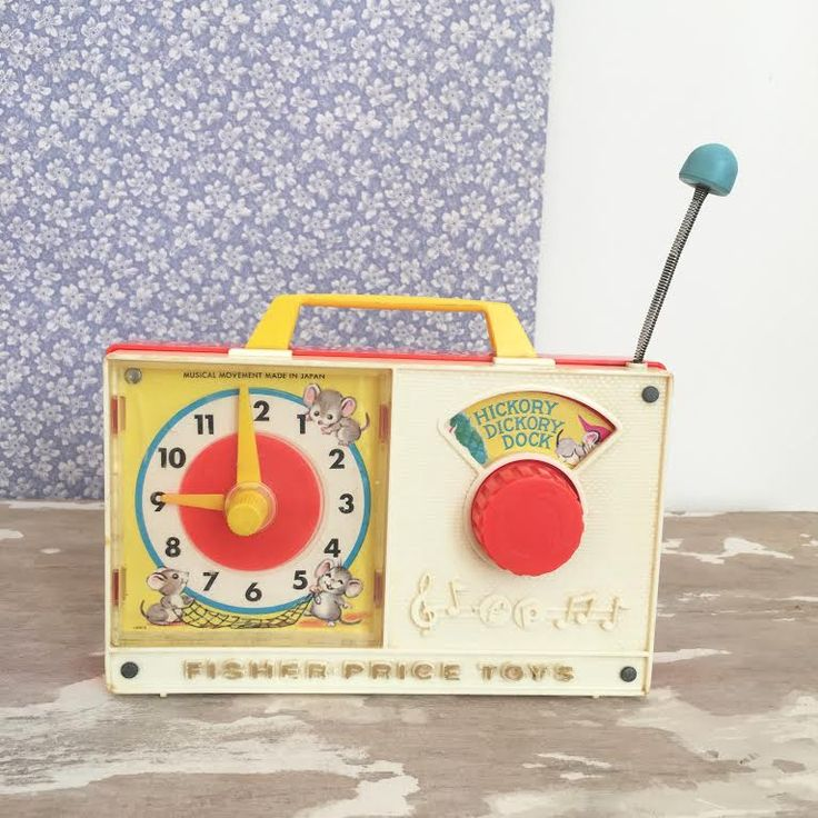 Orangevertevintage — Radio Fisher Price Vintage Hickory Dickory Dock
