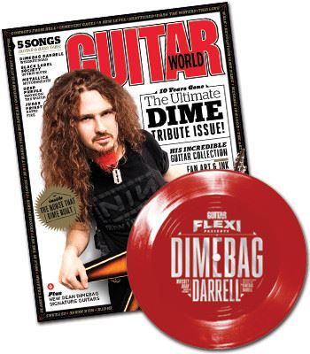 dimebagdarrellguitarworldflexi one of a kind