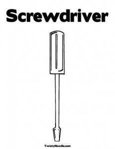 screwdriver coloring page