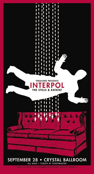Interpol by Mike King  (...is that couch a reference from Turn on the Bright Lights?)