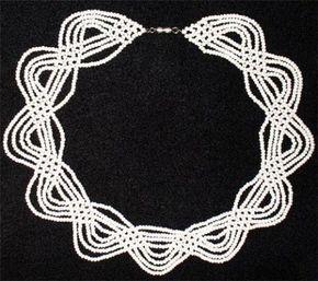 белое ожерелье | biser.info - всё о бисере и бисерном творчестве