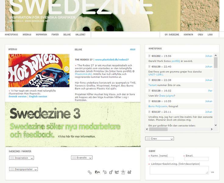 Swedezine website in 2003