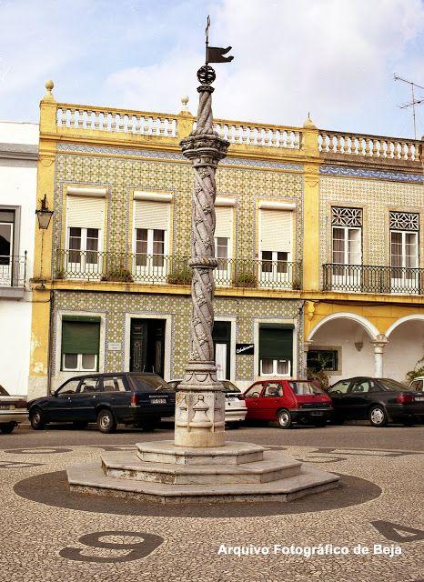 Praça da República de Beja - antes de 2002 - Pelourinho - Beja y Arrabaldes