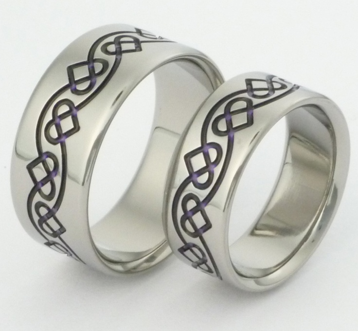 Celtic Heart Wedding Rings In Anium Www Tirings