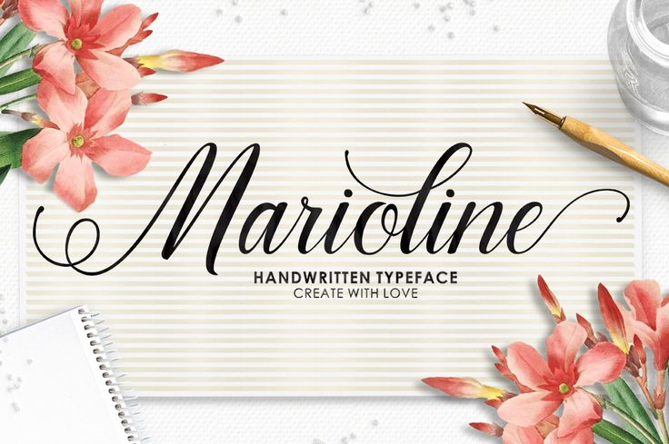 Marioline Script is a stunning handwritten typeface with classical roots. This formal script has a elegant touch which makes it perfect for wedding & birthday invites, logos, branding, greeting cards, print and much more. Marioline features over 500 unique handmade glyphs and 315 alternate characters.