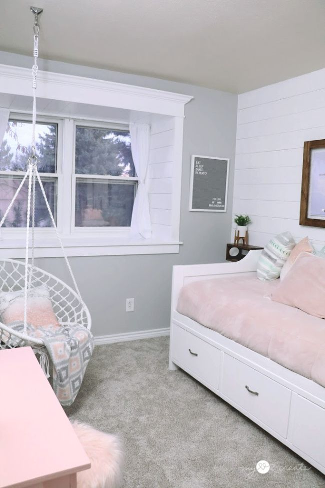 tween girls bedroom reveal in 2020 | tween girl bedroom, girls bedroom grey, girls bedroom daybed