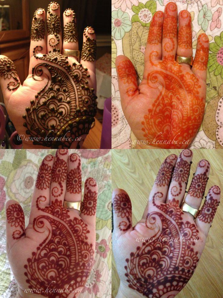 Mehndi Henna Powder : Natural henna stain process of paste