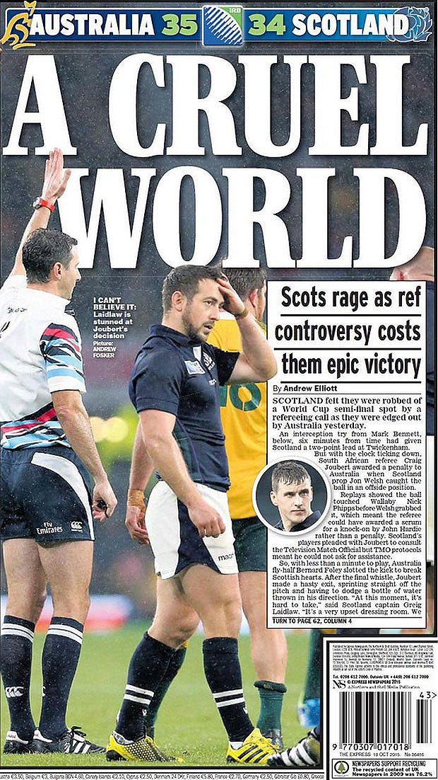 046224ccac6ea32f0a597da4283fef61 rugby cup world cup referee craig joubert 'may have needed bathroom' after sparking,Craig Joubert Meme