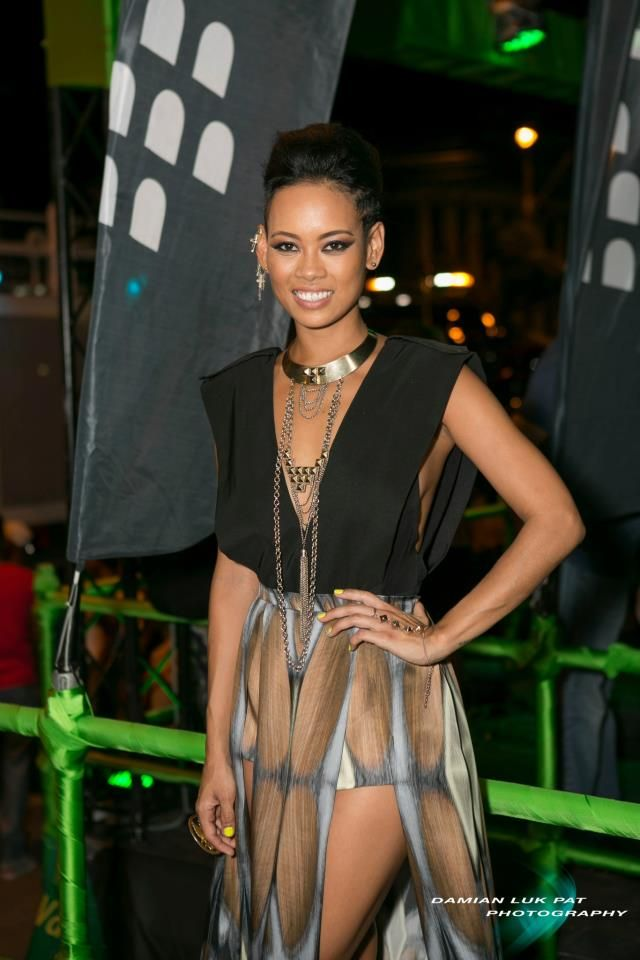Anya Ayoung-Chee in her own design