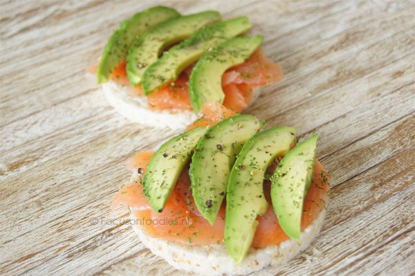 Glutenvrije lunch met zalm en avocado - Focus on Foodies