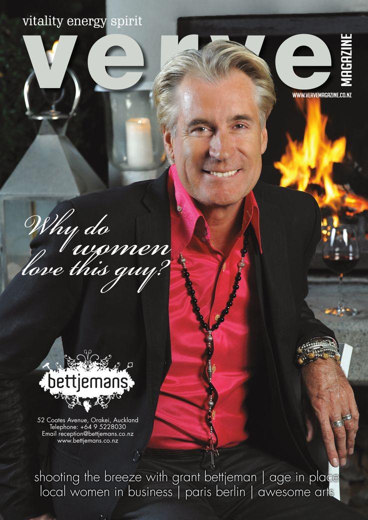 Grant Bettjeman on the cover of Verve Magazine.