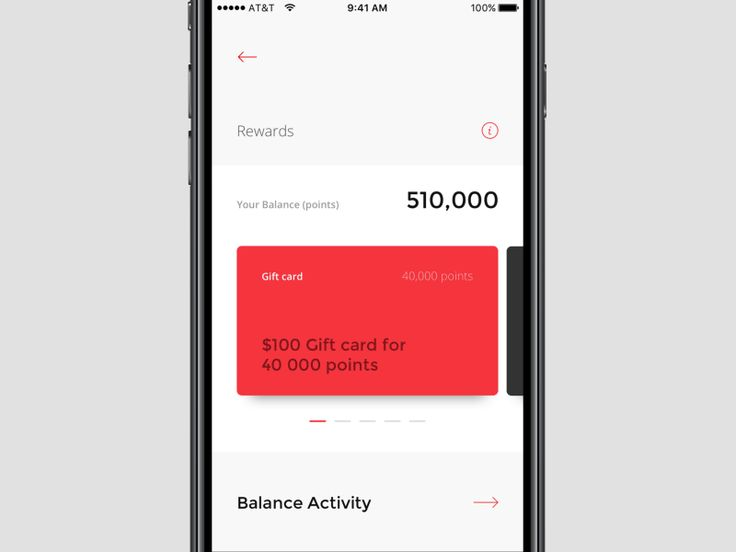 Card interaction for Ganas Auto rewards and payments app by Gen Design Studio