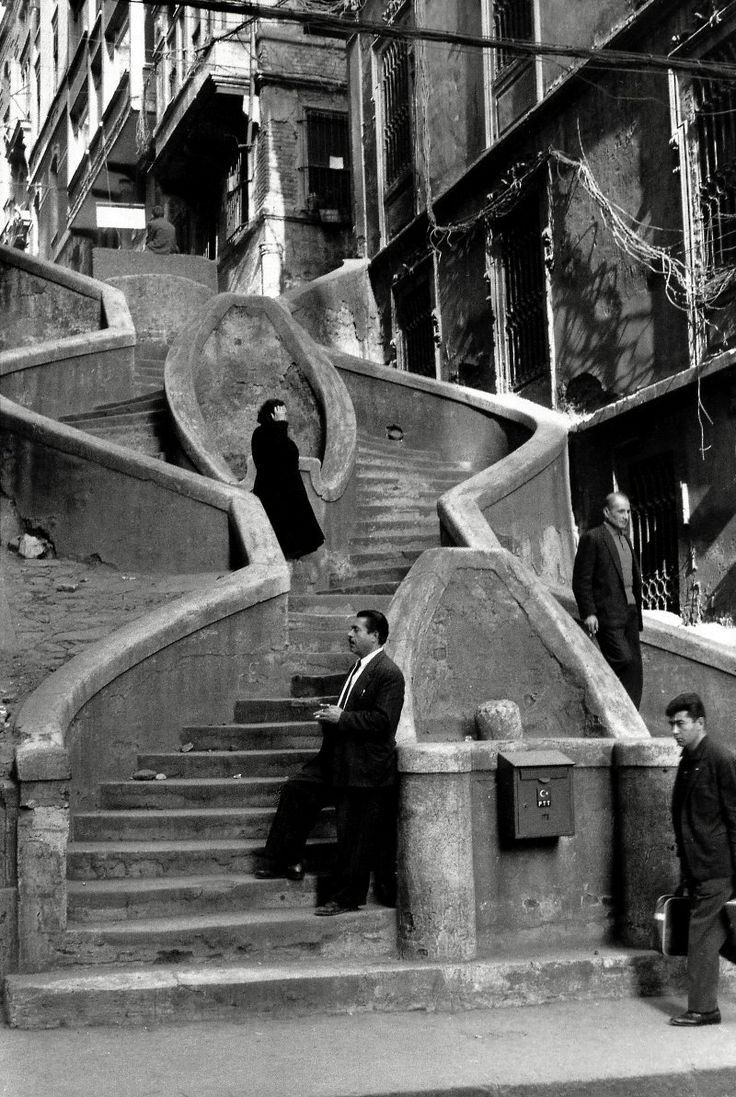 camondo stairs, istanbul, turkey, 1964.  Henri Cartier-Bresson/ magnum photos.