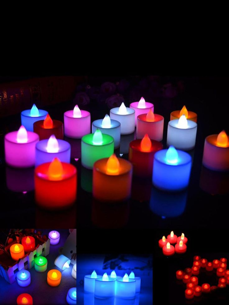 [Visit to Buy] Wholesale 5 PCS LED Candle 6 Colors Flameless Flickering LED Tea Light Battery Candles Wedding Party Holiday Decoration #Advertisement