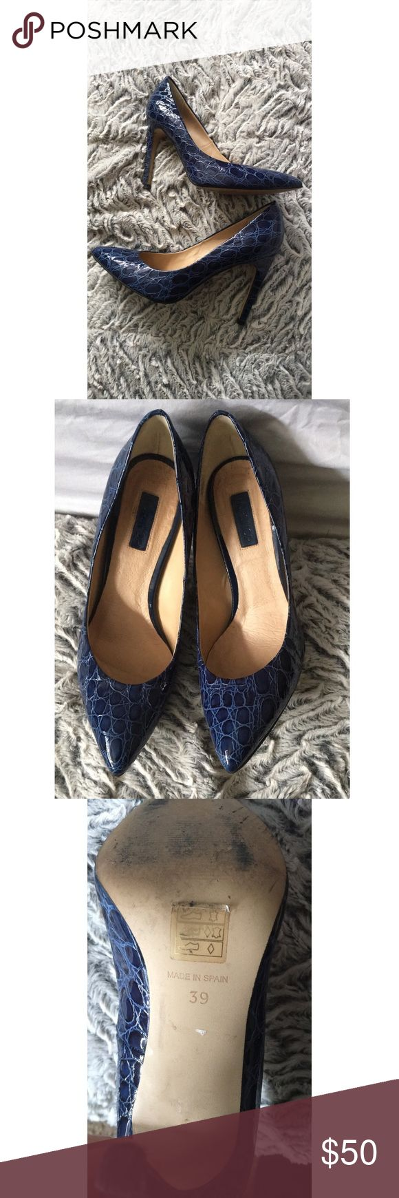 ✨✨TOPSHOP HEELS✨✨ Size 9 blue TOPSHOP heels. In great condition. Make an offer! Extremely comfortable!! Topshop Shoes Heels