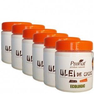 Pachet economic -10% de 6 x500 ml Ulei de cocos BIO