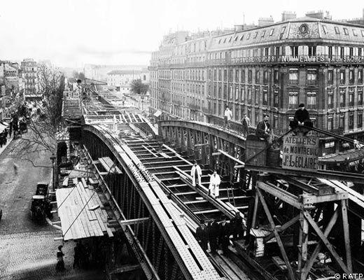 Construction du m tro parisien m moire chantiers ann es for Parisien construction
