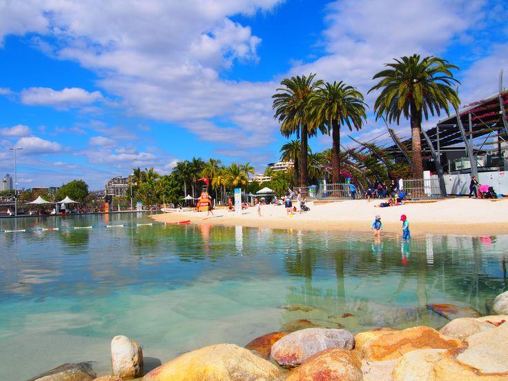 Lovely artificial beach