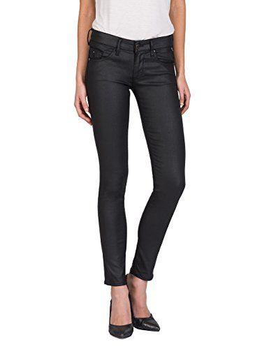 Replay Luz Back Zip Jean Skinny Femme Noir (Black Denim 7) W33 L32 ... f1c88745e6d5