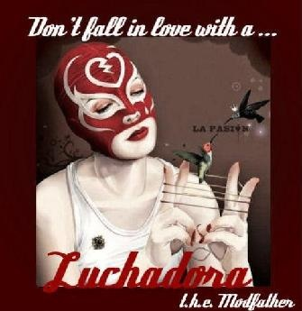 Album art from t.h.e. Modfather. You can listen to Luchadora here. if you are so inclined: http://www.myspace.com/larkthemodfather/music/songs/luchadora-31899886