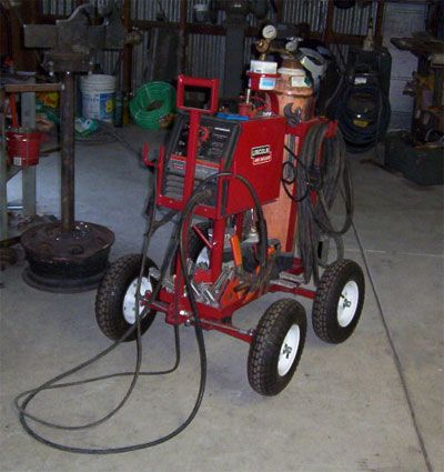 Welding Carts - All Terrain Welding Cart - Move your welder cart around the shop easy!
