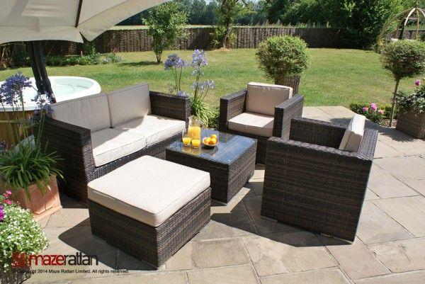 Mejores 9 imágenes de Rattan Garden Sofa Sets en Pinterest | Sofá de ...
