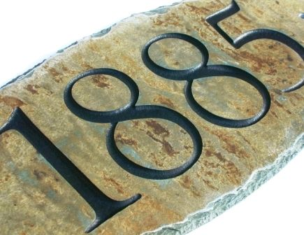 Classy Plaques Store - Slate House Numbers Plaque - Classic, $74.50 (http://www.classyplaques.com/slate-house-numbers-plaque-classic/)