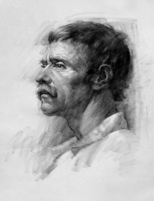 charcoal portraits life drawing - Google Search