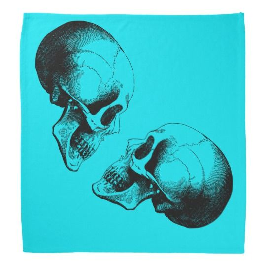 #zazzle #Skulls #Bandana, #Turquoise #Bandana #head #gift #giftidea