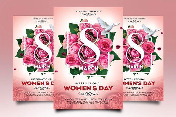 Women's Day Flyer by Gayuma on @creativemarket