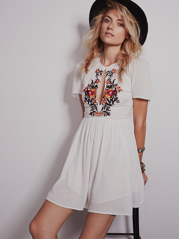 25 cute embroidery dress ideas on pinterest embroidered clothes free people garden blooms dress 16800 ccuart Images