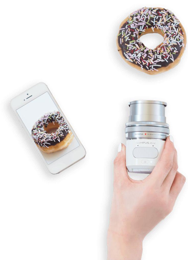 Fun with OLYMPUS AIR スマートフォンで一眼カメラの画質が楽しめる新しいカタチ。OLYMPUS AIRがあればいつものスマートフォンアプリがもっと楽しくなってくる。