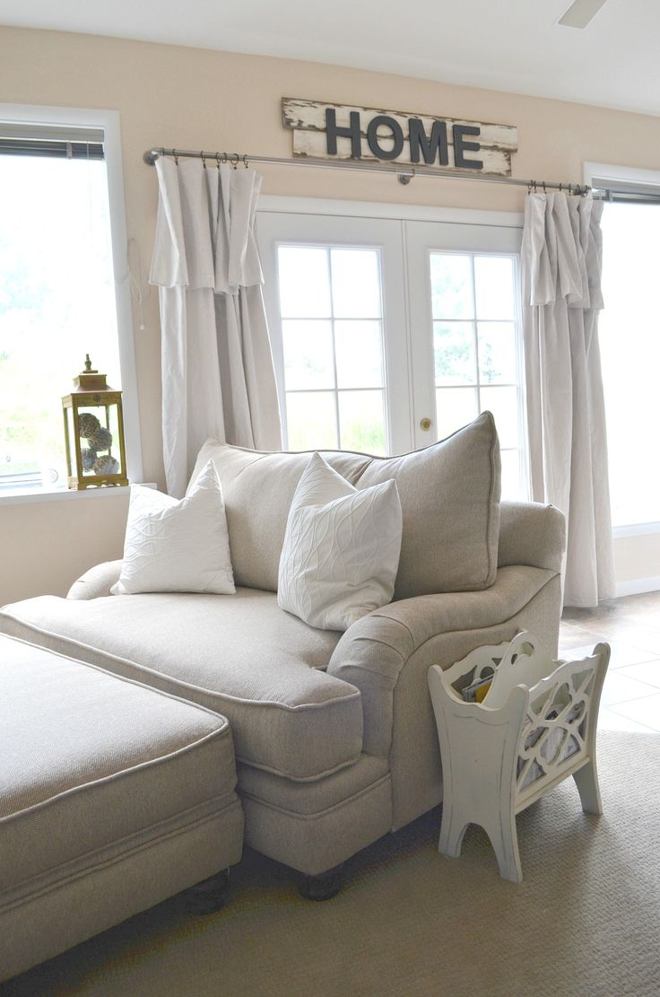 Bedroom chair reading - Farmhouse Style Oversized Chair And A Half
