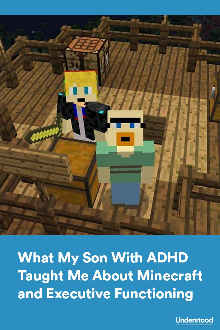 """It was amazing to see how many of the tasks he was doing in Minecraft involve executive functions."""