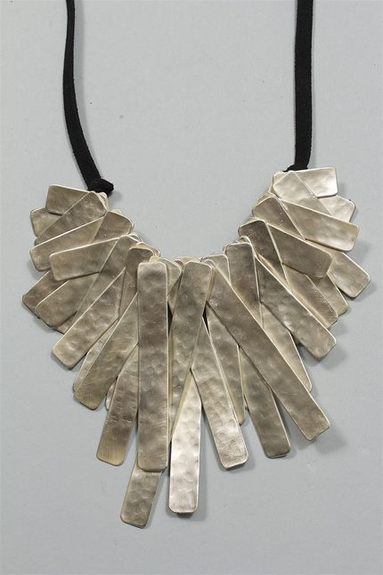 Long Necklace in Silver from Sophie Finzi New York at Cladin: Imaginative Designer Clothing, Shoes, Accessories & Jewelry for Women Cladin: Imaginative Designer Clothing, Shoes, Accessories & Jewelry for Women