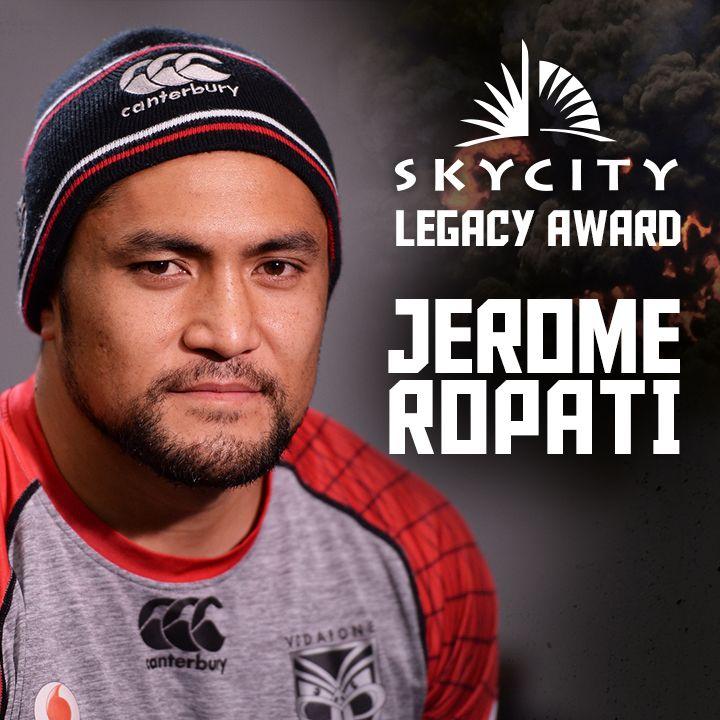 Congratulations to SKYCITY Legacy Award recipient Jerome Ropati