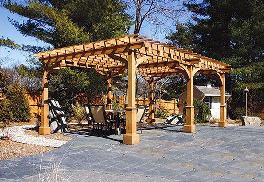 Patio pergola a request for a contemporary asian style for Japanese pergola kits