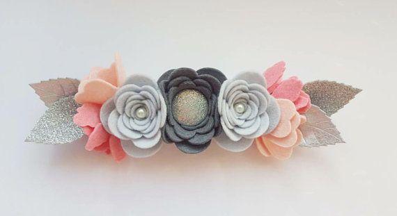Layla PETITE Floral Crown Felt Flower Crown / by shopfeltinbloom