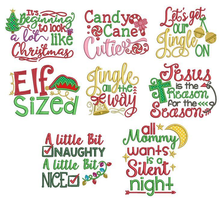 Christmas Word Art Set 1