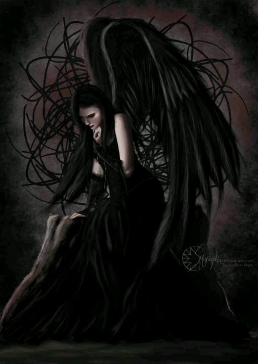 """ Angel of Sadness"" by Maria Nikolopoulou dark angel Goth Gothic"
